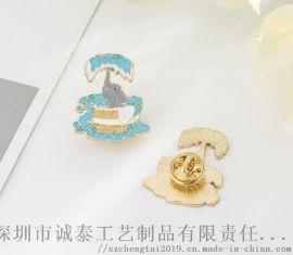 异形动漫胸章定制,金属大象徽章,烤漆胸章生产