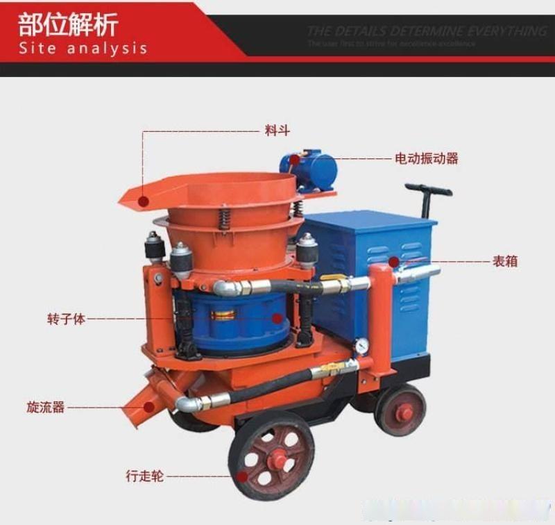 四川德阳干式喷浆机配件/干式喷浆机厂家