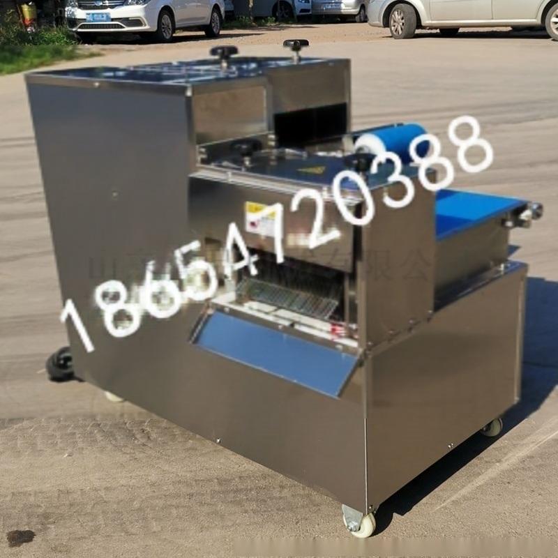 多功能鲜肉切丁机多少钱一台-诸城食品机械设备