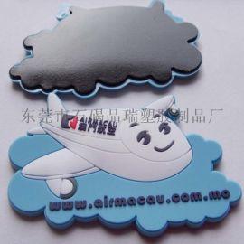 pvc卡通冰箱贴 定制pvc软胶飞机冰箱贴