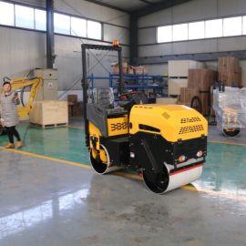 沃特小型驾驶式压路机 双钢轮振动压路机 压土机