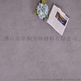 水泥灰色SPC锁扣地板 办公室石塑地板酒店免胶地板