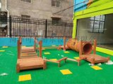 海盗船室外木质游乐设备定做幼儿园滑梯组合