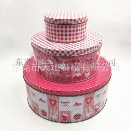 小号中号大号圆形铁盒 马口铁圆形罐定制 饼干套装盒