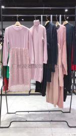 斯美尔2020毛衣连衣裙品牌折扣女装尾货实体直播