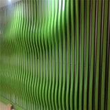 上海市外牆造型鋁方通 金屬吊頂弧形木紋鋁方通