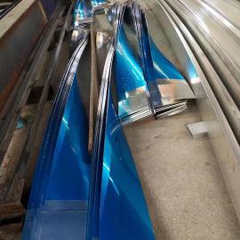 型材扭曲铝条板 深圳扭曲铝条板  碳漆扭曲铝条板