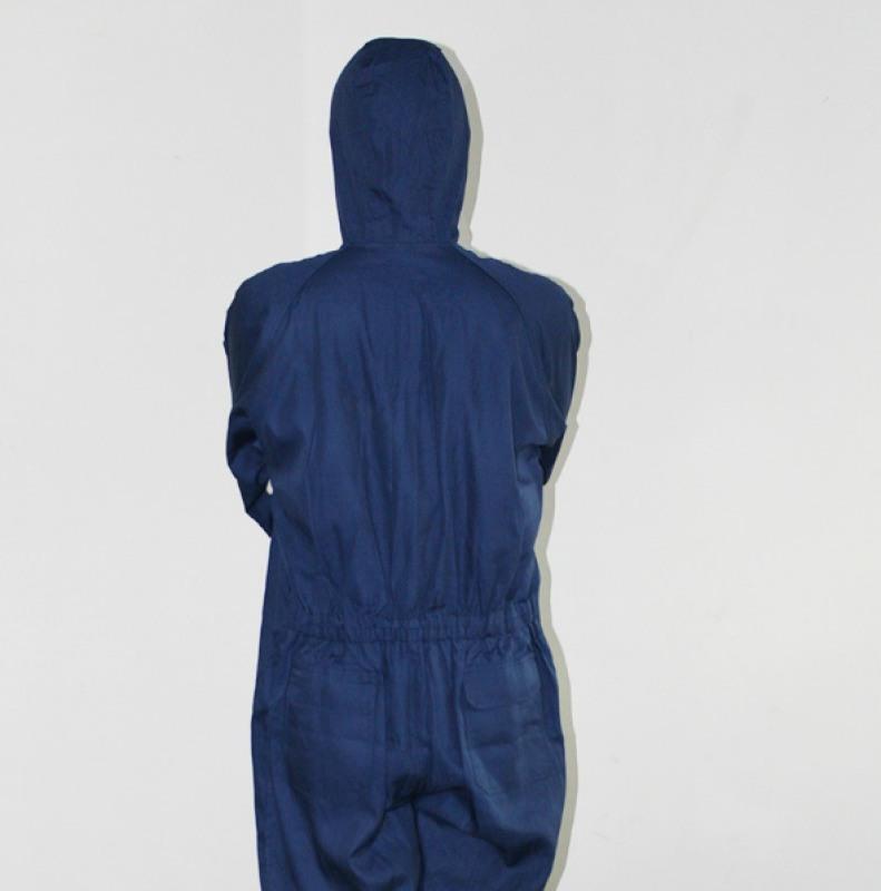 防静电连体服 耐酸碱藏青耐酸碱三连体色工作服