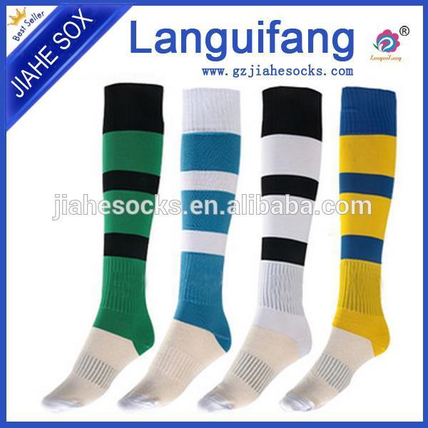 正品兰桂坊毛巾底足球袜,专业球队足球袜,广州运动袜工厂