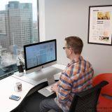 爱格升ergotron WorkFit-A 坐站两用工作站apple imac电脑支架24-414-227