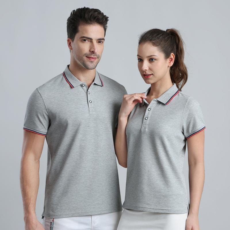 夏潮定製印logo學生男女情侶裝短袖t恤polo文化廣告衫diy工作班服