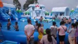 大型水上衝關設備項目移動水上樂園設施支架游泳池租賃