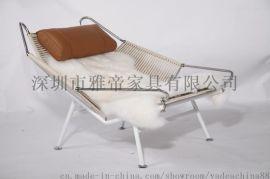 客厅休闲躺椅型号KC020羊皮坐垫厂家直销
