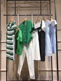 武汉品牌折扣女装正品批发米奥多新款连衣裙哪里有