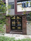 维修自动工业伸缩门,定做庭院别墅铝艺大门