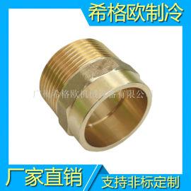 厂家直销黄铜外丝承口接头 水管接头 外牙直通