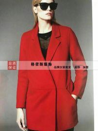 深圳高端品牌双面羊绒大衣走份折扣批发女装尾货代卖