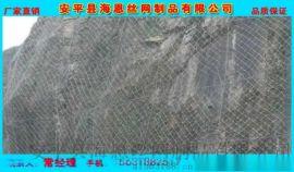 边坡绿化防护网 热镀锌钢丝绳网规格
