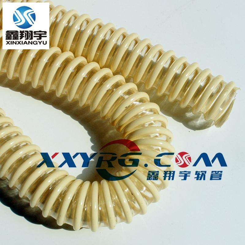鑫翔宇pu塑筋增强耐磨真空吸尘软管,波纹管,工业吸尘管