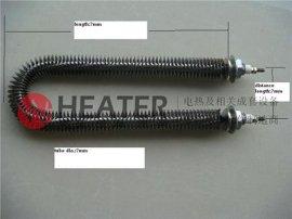 上海昊誉机械供应u型翅片加热管220V 不锈钢翅片式电热管 厂家直销