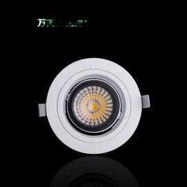 博物馆酒店珠宝柜台射灯LED照明灯具COB吊顶天花灯精品高亮6W射灯
