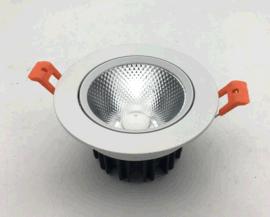 嵌入式led天花射灯75mm开孔,5W 7W