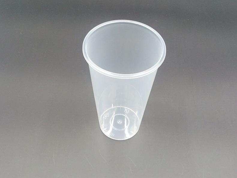 pp注塑杯500ml750ml一次性奶茶杯塑料杯子