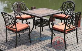 戶外桌椅鑄鋁桌椅室外家具露臺休閒陽臺庭院桌椅五件套