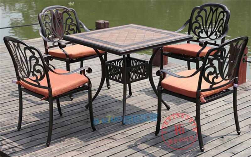 户外桌椅铸铝桌椅室外家具露台休闲阳台庭院桌椅五件套
