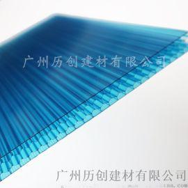 历创厂家  pc蜂窝阳光板 透明雨棚 实心耐力板