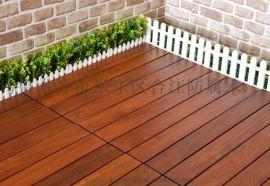 定做防腐木地板 户外景区防腐木地板长廊