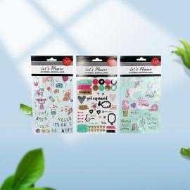 儿童卡通贴纸姓名贴防水卷筒可打印pvc文具卷状标不干胶标签定制