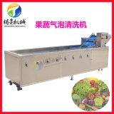 廠家生產銷售 超聲波果蔬清洗機 不鏽鋼全自動氣泡臭氧洗菜機