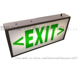 欧标消防诱导应急灯嵌入式安全出口指示灯牌疏散灯箱