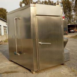 供应熟食店熏鸡烟熏炉30公斤不锈钢熏鸡设备烟熏炉