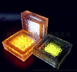 施路达方形透明水晶太阳能地砖灯