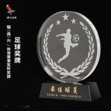 足球奖牌 运动比赛奖杯 水晶奖杯奖牌