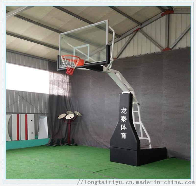 成都手动液压升降篮球架 比赛用室内篮球架