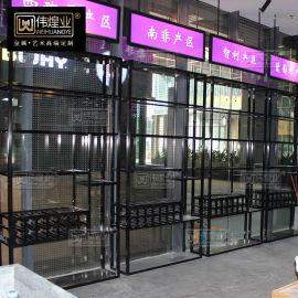 葡萄酒架 欧式不锈钢酒架定制 红酒展示架