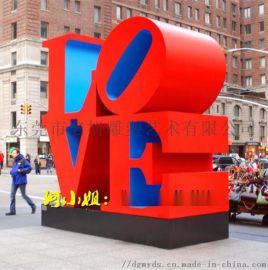 浪漫爱情主题玻璃钢字母LOVE造型雕塑英文字母摆件