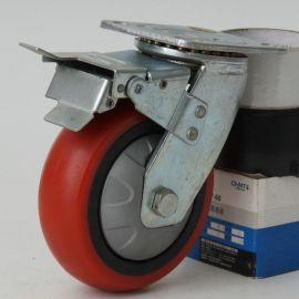 6寸聚禄工业万向脚轮 工业圆弧脚轮 PU台车专用轱辘万向轮子批发