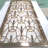 清遠304鏡面玫瑰金不鏽鋼屏風加工 現代簡約風玄關屏風隔斷
