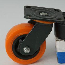 厂家直销 5寸工业塑芯聚禄脚轮 工业万向耐磨胶轮 手推车轮子批发