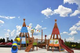 儿童组合滑梯户外木制拓展绿森堡游乐设备厂家定做