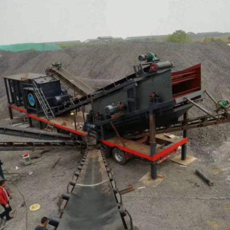 建筑石子破碎成套生产线 简易车载式移动破碎站