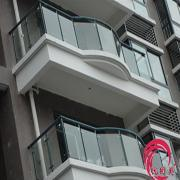 深圳阳台玻璃栏杆扶手不锈钢阳台栏杆定做