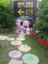句容彩绘案例 房地产项目彩绘JR-2 碧桂园大理石上手绘