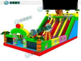 游乐场充气玩具有哪些新款式 大型充气滑梯城堡