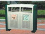 重慶環衛設施分類衝孔垃圾桶,實木質地垃圾箱廠家直銷