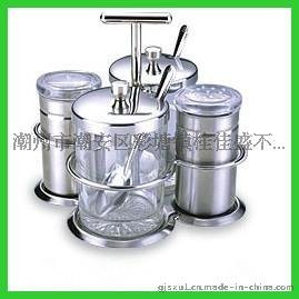 不锈钢调料罐四件套盐盒创意调味瓶调料盒套装